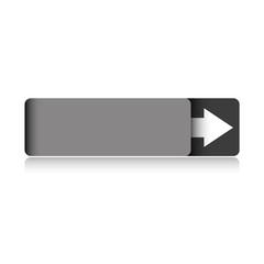 Empty grey button vector