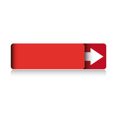 Empty red button vector