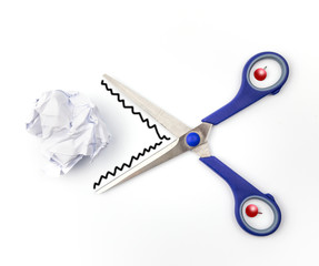 scissors on white background. business or education concept