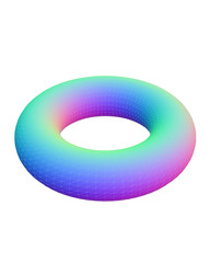 Rainbow doughnut design