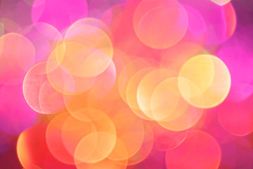 Colorful blurry defocused background with bokeh effect