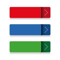 Blank button vector set