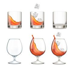 Glasses. Alcohol