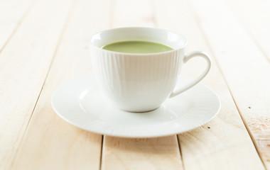 hot matcha latte