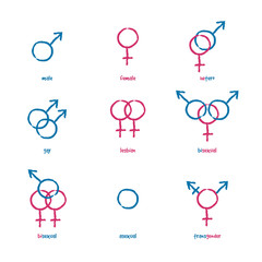 Icons gender color