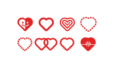 Heart Icons Vector Set