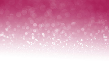 Pink glitter surface with pink light bokeh with white empty copyspace