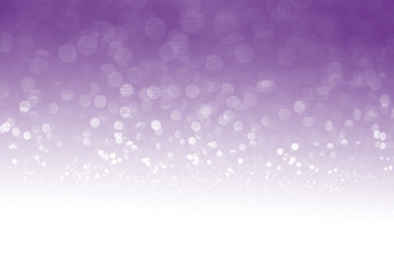 Purple glitter surface with purple light bokeh with white empty copyspace