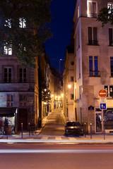 Paris streets at night.