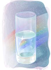 glass  rainbow  of water