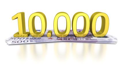 500 Euro banknotes
