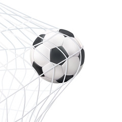 Soccer Ball In The Net Pictogram