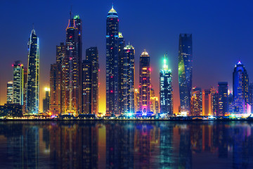 View of Dubai by night