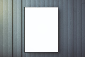 Blank picture frame on a concrete wall, mock up