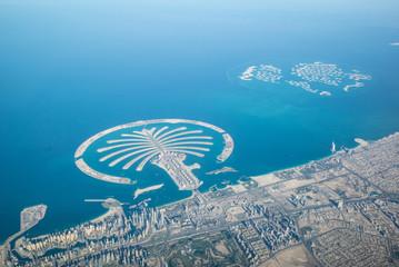 Canvas Prints Palm tree Küste von Dubai - Vereinigte Arabische Emirate - Luftbild,