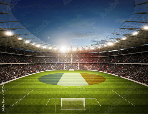 Wall mural Stadion Frankreich P1