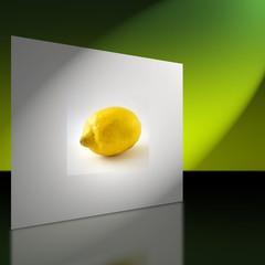 Wand mit Bild einer Zitrone