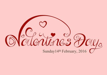 Valentines Day - with an English dates - pink and red - flourishes swing