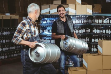 Team of brewers working together