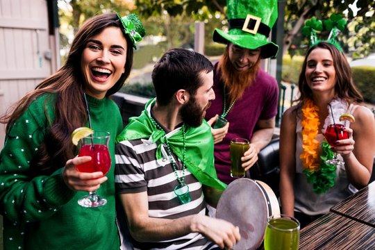 Friends celebrating St Patricks day