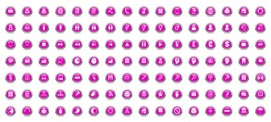 business and technology vector internet violet icons set