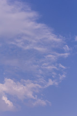 Clouds with blue sky, texture and background