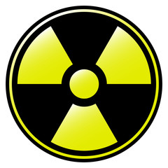 symbol of radioactive contamination with highlights danger