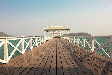 Pier pavilion vintage style.