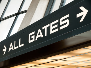 Airport Gates Sign