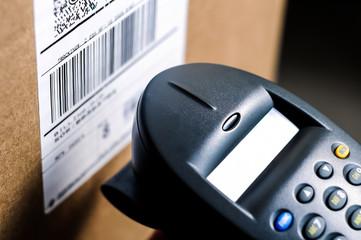 Barcode Reader Scanning Box UPC Label