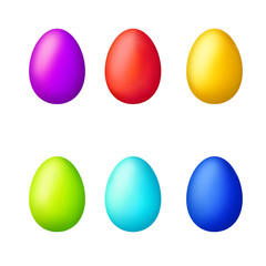 Easter eggs set isolated illustration vector