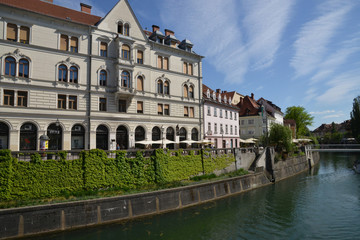 Slovenia, picturesque and historical city of Ljubljana