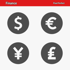 Finance Icons. Professional, pixel perfect icons optimized for both large and small resolutions. EPS 8 format.