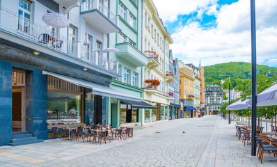 World-famous for its mineral springs, the town of Karlovy Vary (