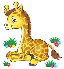 Young giraffe theme image 1