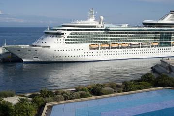 Cruise Ship docked at Port Hercules Cruise Terminal, Monaco