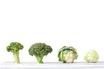 Broccoli and cauliflower.