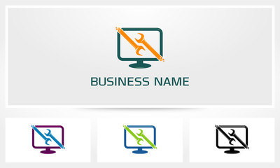 Computer Service Logo