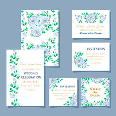 set invitation floral