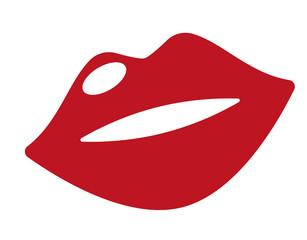 Lippen roter Mund Vektor