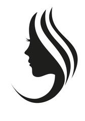 Silhouette Frau Gesicht Haare