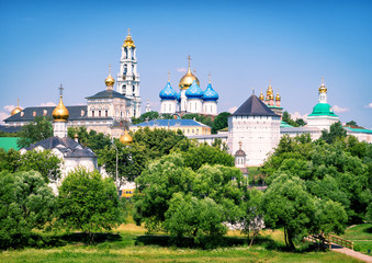 The famous Trinity monastery in Sergiyev Posad (Golden Ring of R