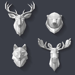 forest animals on the wall
