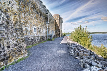Photo sur Plexiglas Fortification Fort Chambly is designated as a National Historic Site of Canada
