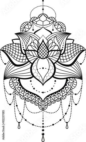 Tattoovorlage Spitzen Musterlace Thigh Stockfotos Und Lizenzfreie