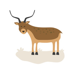Vector Illustration of a Gazelle