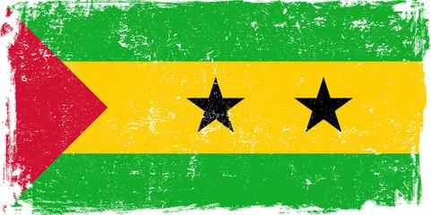 Sao Tome and Principe Vector Flag on White