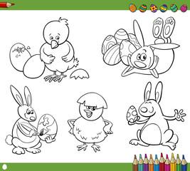 easter cartoons coloring book