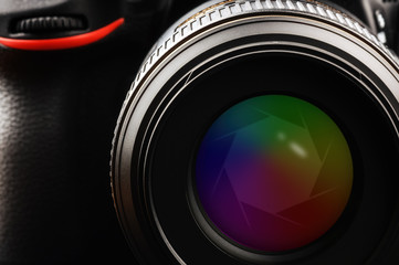 Camera lens with shutter