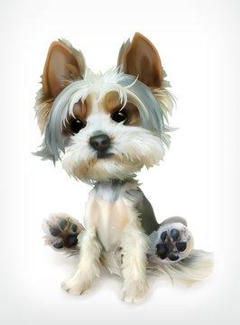 Little Puppy, vector icon